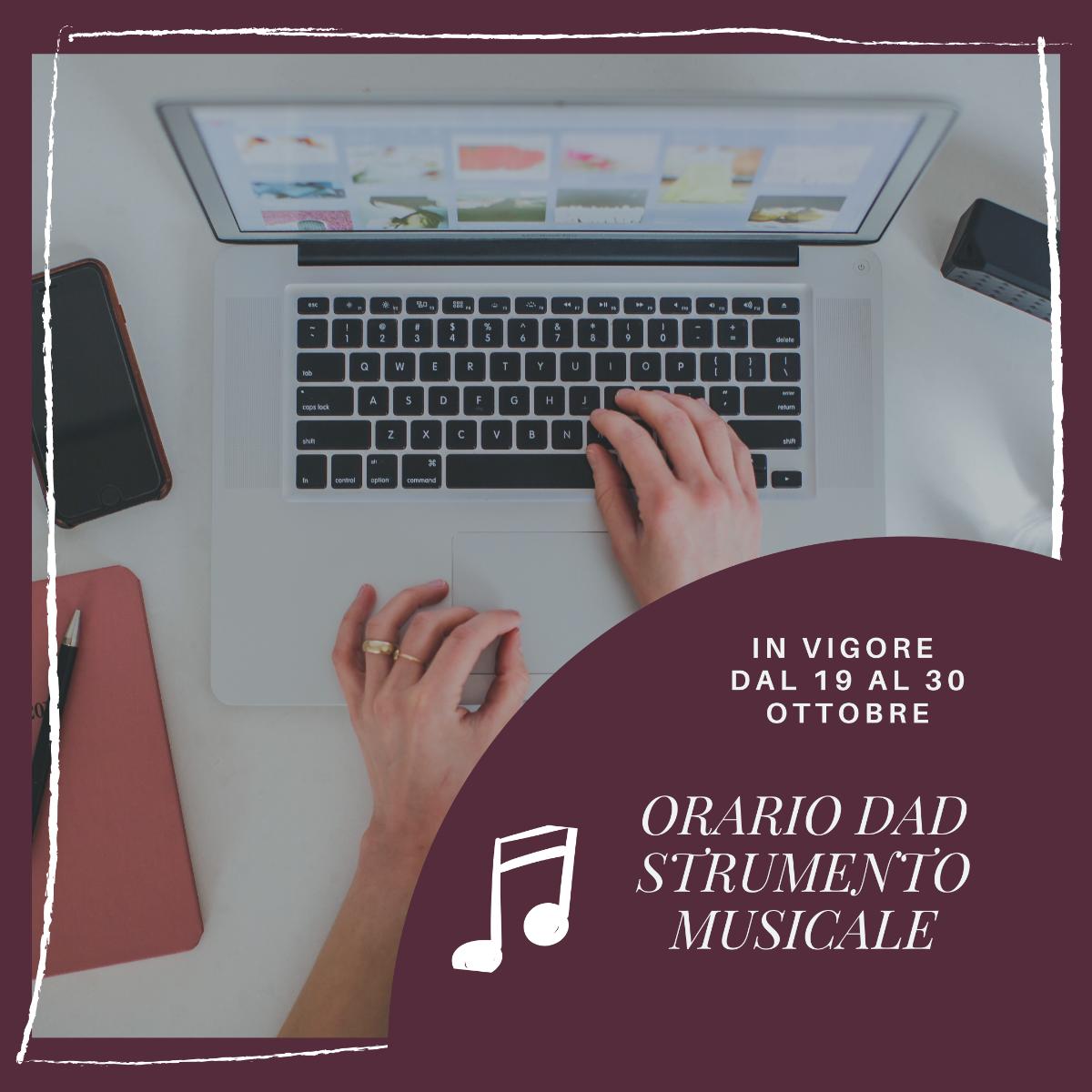 ORARIO SEZIONE MUSICALE - DAD